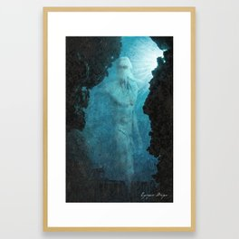 The Lost Colossus of Poseidon Framed Art Print