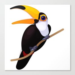 Exotic toucan. Vector graphic character Canvas Print