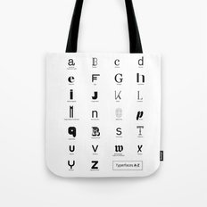 Typerfaces A-Z  Tote Bag