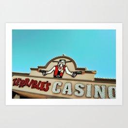 Terribles Casino Art Print