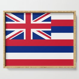 Hawaiian Flag, Official color & scale Serving Tray