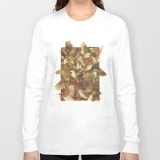Red-Throated, Black-capped, Spotted, Barred Long Sleeve T-shirt