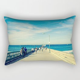 Pier Blue Rectangular Pillow