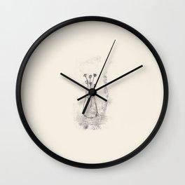 forgotten flowers Wall Clock