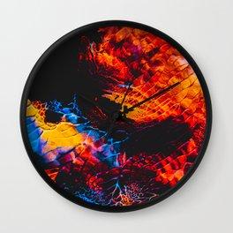 Abstract Splatter Paint v3 Wall Clock
