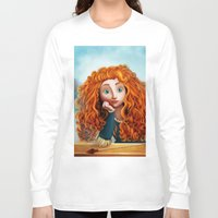 merida Long Sleeve T-shirts featuring Merida The Brave by This Is Niniel Illustrator