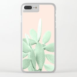 Green Blush Cactus #1 #plant #decor #art #society6 Clear iPhone Case