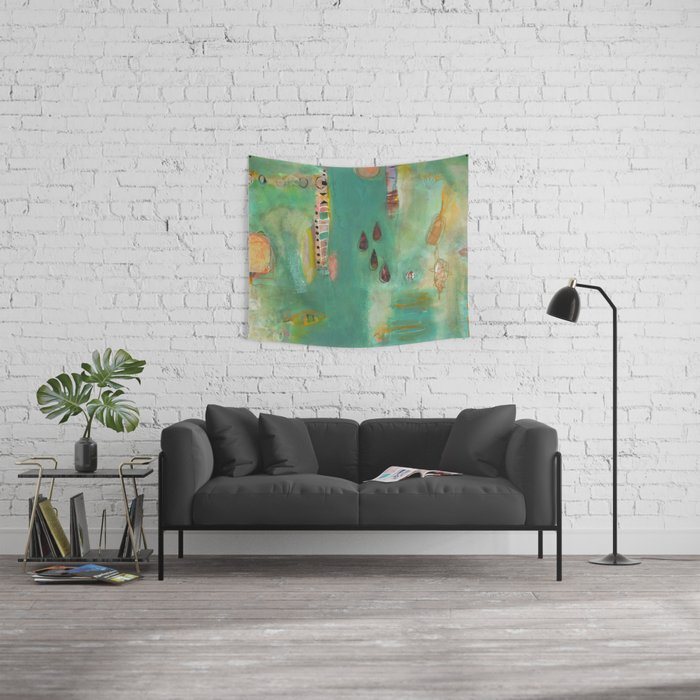 And Then There Were Four Wall Tapestry