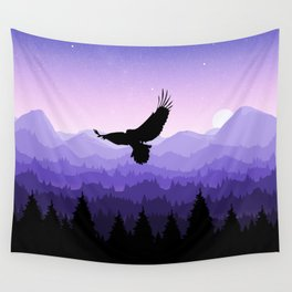 Eagle Skyline Wall Tapestry