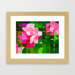 Pink Roses in Anzures 1 Abstract Circles 1 Framed Art Print