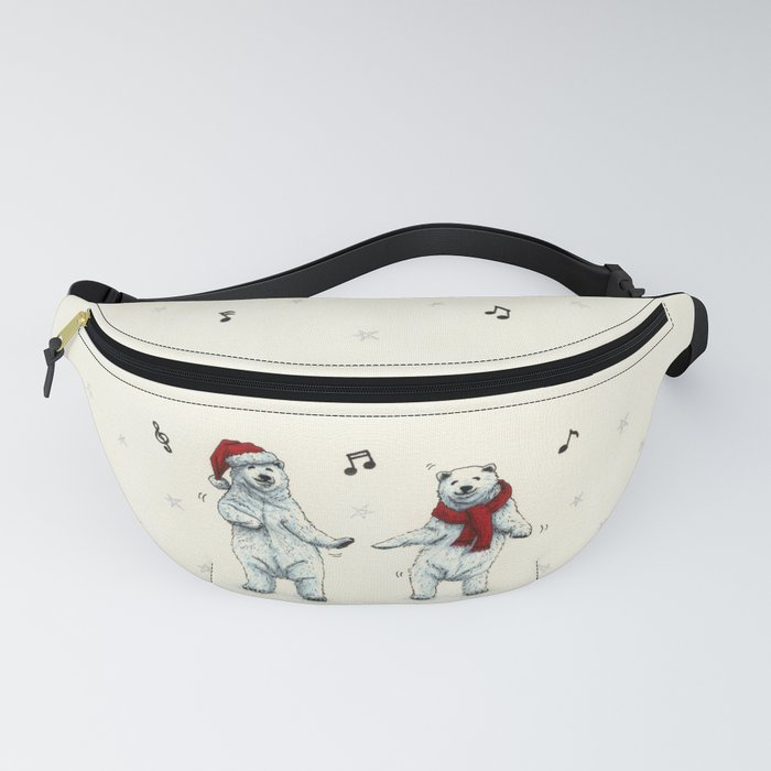 The polar bears wish you a Merry Christmas Fanny Pack