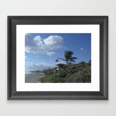 Atlantic Beach Scene, Jupiter, FL 2013 Framed Art Print