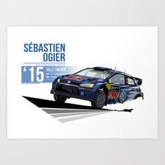 Sébastien Ogier - 2015 Sweden Art Print