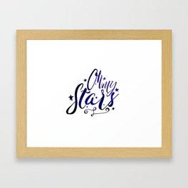 Oh My Stars | Inverse Framed Art Print