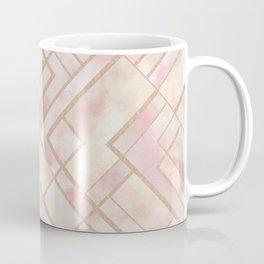 Geometric Watercolor - Rose Gold Coffee Mug