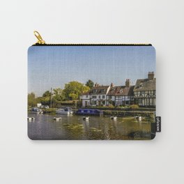 Tudor homes along River Avon. Carry-All Pouch