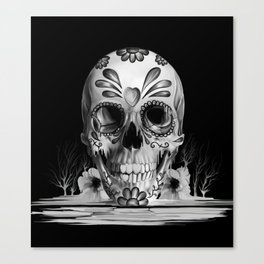 Pulled sugar, day of the dead skull Canvas Print