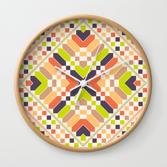 Retro avocado Wall Clock