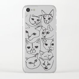 Cats! Clear iPhone Case