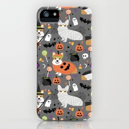 Corgi halloween costume ghost mummy vampire howl-o-ween dog gifts iPhone Case