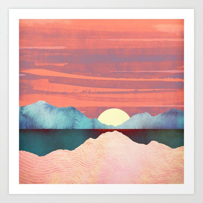 Pink Oasis Kunstdrucke