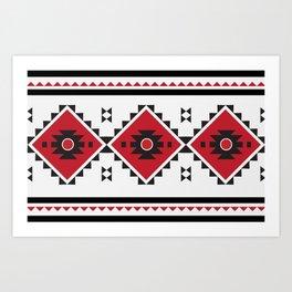 Bulgarian Folklore Inspired Design - KANATITSA Art Print