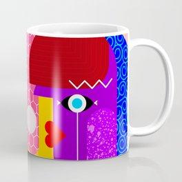 Couple - Geometric Abstract Modern Art Designs Coffee Mug