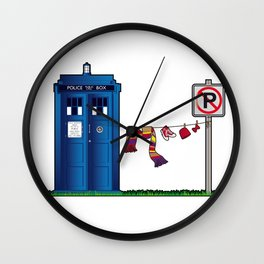 Doctor Who: tardis wardrobe  Wall Clock