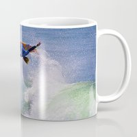 surfer Mugs featuring Surfer by Breathstone Photography