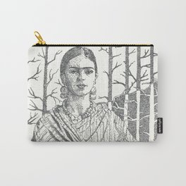 Frida Khalo and trees Carry-All Pouch