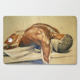 Vintage Anatomy Charles Landseer A Dissected Body Cutting Board