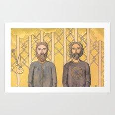 Bearded Men Art Print
