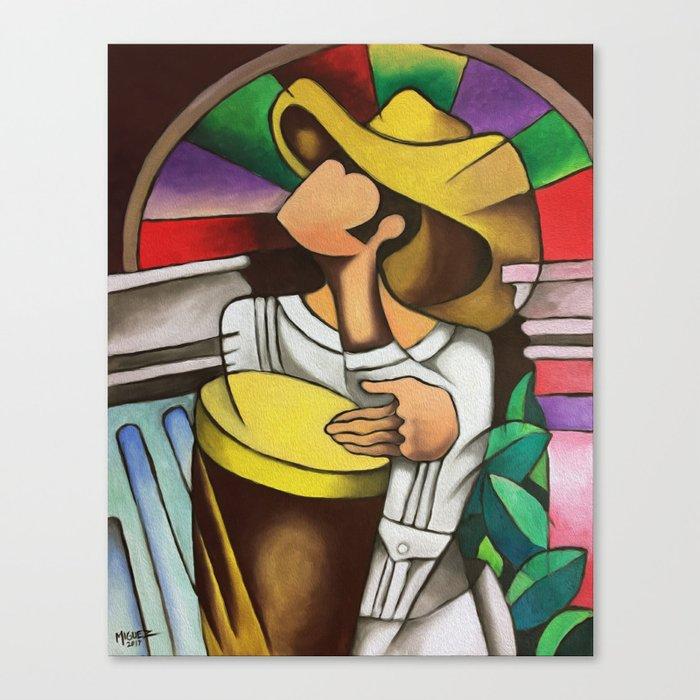 Miguez Cuban Art Guajiro Abstract Canvas Print