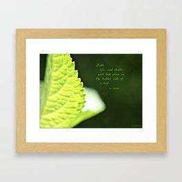 The Hidden Side of a Leaf Framed Art Print