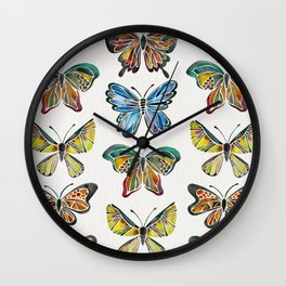 Butterfly Specimens Wall Clock