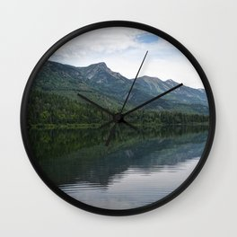 Summit Lake Scenic I -Natue Scenery Wall Clock