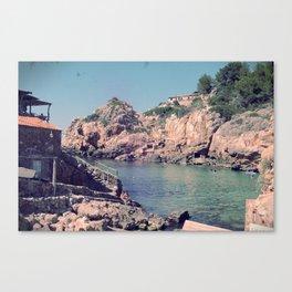 Hidden Coves On Spanish Islands Canvas Print