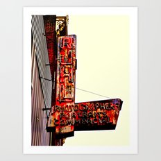 Ruhl's Photography Sign Art Print