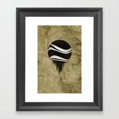 Contained Wave Framed Art Print