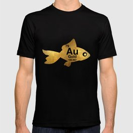 Au Gold Goldfish Periodic Element Funny Graphic Tshirt T-shirt