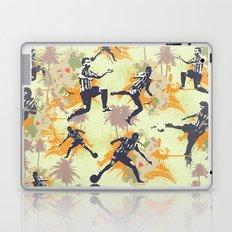 Vintage flower football Laptop & iPad Skin