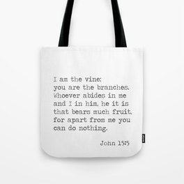John 15:5 Tote Bag