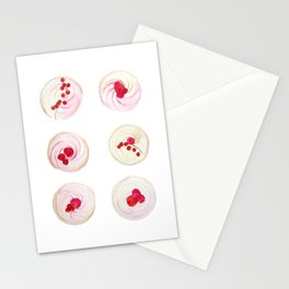 Berries Cupcakes Stationery Cards