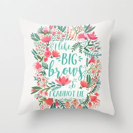 Big Brows – Juicy Palette Throw Pillow