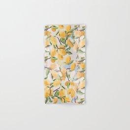 Watercolor Lemons Hand & Bath Towel