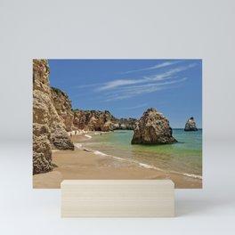 Praia da Rocha sea stacks Mini Art Print