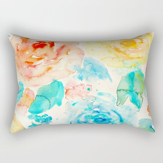 Abstract Flowers 04 Rectangular Pillow