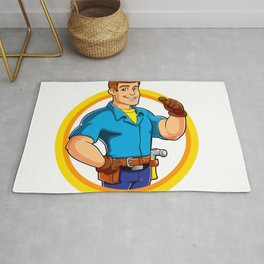 Handyman and Work Tool Rug
