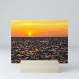 Sunken Meadow Beach sunset, Long Island, New York Mini Art Print