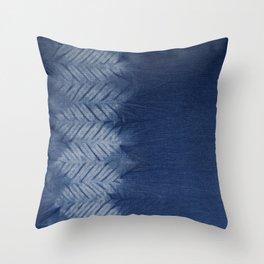 Shibori Chevron Stripe Throw Pillow